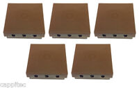 PACK OF 5x BT16A EXTERNAL CABLE JOINT BOXES IN BROWN WITH 2x 2 WIRE JELLY CRIMPS