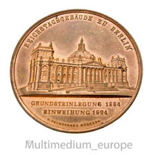 Jugendstil Medaille Einweihung 1894 Reichtagsgebäude Berlin Bismarck 🌺🌺🌺🌺🌺