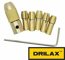 DRILAX 7 pieces Set 0.5mm to 3mm (1/8 inch) Drill Bit Collet Chuck Twist Action