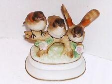 "Towle ""April Love"" Fine Porcelain Spring 3 Bird Figurine Music Box"