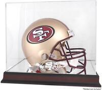 San Francisco 49ers Mahogany Helmet Display Case with Mirror Back - Fanatics