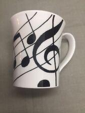 Ebony Dunoon Music Themed Mug Bone China Gift Teacher Notes Black