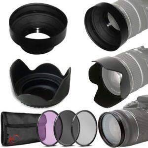 Filter Set + Hoods for Nikon 50mm f/1.8D Lens, 50mm f/1.4D, 40mm f/2.8G Lenses