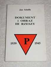 Dokument i obraz iii rzeszy by Jan Zzlufik (1987) Polish language Third Reich