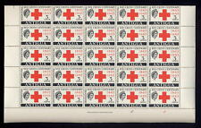 ANTIGUA 1963 RED CROSS 3c MINT SHEET of 50 stamps