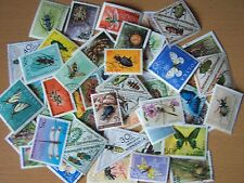 50 DIFFERENT INSECTS ON STAMPS,EXCELLENT.