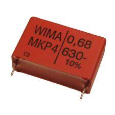 WIMA POLIPROPILENE diapositive CONDENSATORE CONDENSATORE mkp4 630v 0,68uf 27,5mm 089701
