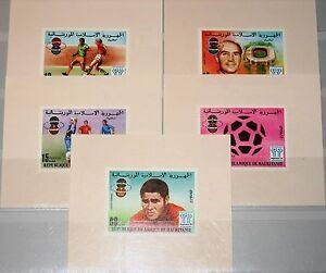 MAURITANIA MAURETANIEN 1977 584-88 DELUXE Bl. Soccer World Cup 1978 Fußball MNH