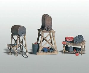 Woodland Scenics ~ New 2021 ~ HO Scale ~ Fuel Stands ~ 3 Pieces ~ D212