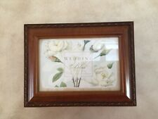 Cottage Garden Wedding Bliss Wood Music Jewelry Photo Box Plays Unchained Melody
