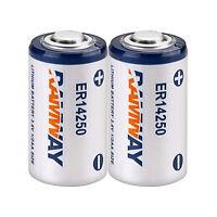 Pack of 2pcs 1/2 AA 3.6V ER14250 LS14250 Lithium Battery 1200mAh RMNWAY