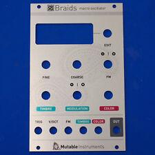 Mutable Instruments Braids Panel - Original Part - eurorack modular synth