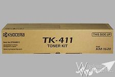 New Genuine Kyocera Mita TK-411 OEM Black Toner Cartridge TK411 KM 1620 370AM011