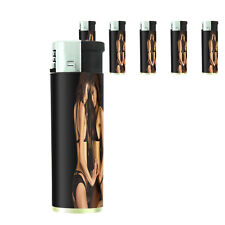 Thai Pin Up Girl D7 Lighters Set of 5 Electronic Refillable Butane