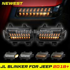 Front Fender Flare Turning Light And Side Maker Led Lights For Jeep Wrangler JL