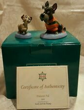 "WDCC ""Jock and Scamp"" Lady and the Tramp in Box with COA's RARE"