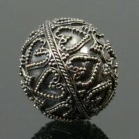 Sterling Silver Granulation Bead 7.30 g Handmade in Bali 22.45 x 20.45 mm
