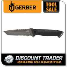 Gerber Warrant Tanto, Black Blade & Handle, Camo Nylon Sheath - 31-000560