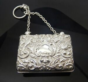 Antique Edwardian Sterling Silver Dance Purse