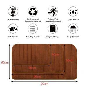 Water Absorption Bathroom Mat Memory Foam