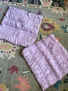 "Pottery Barn Teen pbteen ""Purple Ruffle  Puff"" Euro Sham solid Set of Two Girl"