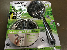 Waterpik Cayman PowerSpray+ Massage Handheld Shower Head w 14 Spray Settings