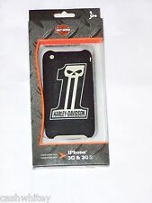 HARLEY DAVIDSON Motorcycle Skull Apple iPhone 3G 3GS Black Cell Phone Case Cover