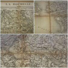 CARTE ENTOILÉE LA ROCHELLE 1855.
