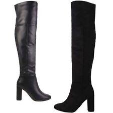 Women's Synthetic Zip Block High Heel (3-4.5 in.) Boots