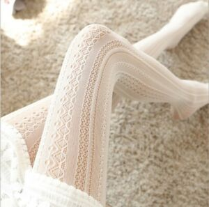 Lolita Lace Stockings Pantyhose Female Carved Net Stockings Hollow Thin Bottomin