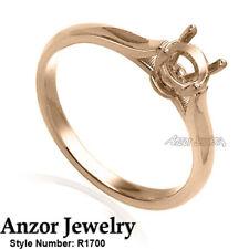 14k Rose Gold Engagement Ring Setting # R1700