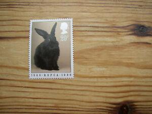 MNH 29p stamp Black Rabbit 150th Anniversary RSPCA 1840-1990 Animal Pet Bunny