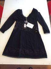 Just Cavalli black lace dress Size 44 IT NWT