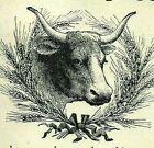 1903 Steer BULL Wheat Wreath QUACK Cure Brain Nerve Food Original Print Ad 4580
