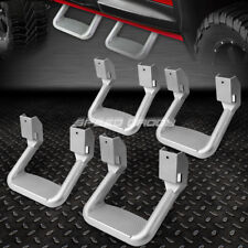FOR FORD/CHEVY/GMC/DODGE 4X  SILVER POWDER-COATED CAST ALUMINUM SIDE STEPS/BAR