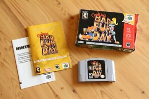 Conker's Bad Fur Day (Nintendo 64) In Box Manual Complete CIB N64 Authentic