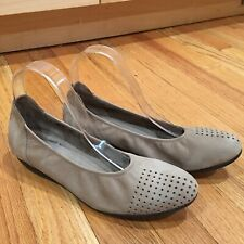 Arche Onara Perforated Suede Flats Beige Nude Size 39 / US 8 EUC