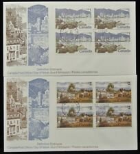 1972 CANADA DAY OF ISSUE COVERS - DEFINITIVE - 4-$1 & 4-$2 - Nice BLOCKS