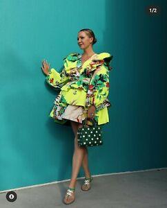 Christopher John Rogers x Target Yellow Floral Long Sleeve Ruffle Dress 2 10