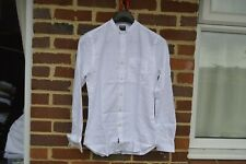 Todd Snyder White Grandad Collar Shirt | Size XS RRP $170