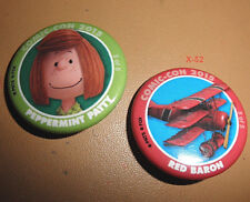 PEANUTS snoopy SDCC 2015 comic con PIN lot PEPPERMINT PATTY + RED BARON 3 5 of 5