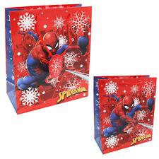 Character Christmas Present Gift Bag & Tag - 31x26.5x12.5cm - Marvel Spiderman