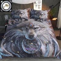 4 Size Bed Quilt/Doona/Duvet Cover Set Wolf Warrior by Sunima Bedding Set