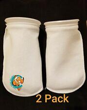 "Two (2) Filter Socks 7"" x 16"" Felt 200 Micron sock Aquarium Reef Wet Dry Sump"