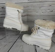Sorel Womens Kajfman White Winter Snow Boots Size 8 Made Canada