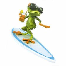 Surfer Funny Frog Car Truck Sticker Decal,Window,Bike Helmets,Amusing,Frog,Toad