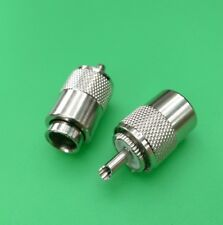 (1 PC) UHF PL-259 Male Twist-On for RG8 RG213 RG214 LMR400 Cable - USA Seller