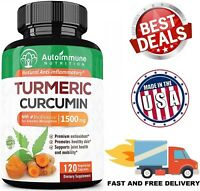 TURMERIC CURCUMIN with Bioperine 1500 mg Pain Relief Joint Support 120 Capsules