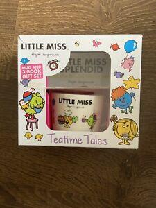 Little Miss Mug & 3 Book Gift Set Teatime Tales Miss Sunshine Toddler Cup (g