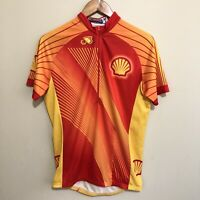 Shell Oil Promo Brand Cyclist Cycling Jersey Shirt Mens Medium